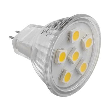 Picture of LED bulb MR11 G4 6 LED SMD 5050 12 V warm white
