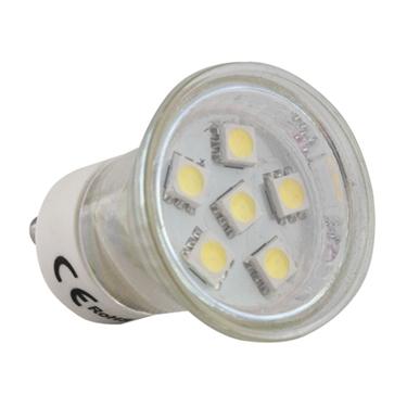 Picture of LED bulb MR11 GU10 6 LED SMD 5050 230 V cold white