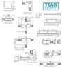 Immagine di TEAR PR-I-B-WH Elementi del sistema a binario TEAR (allacciamento della corrente)