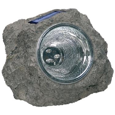 Immagine di Lampada solare a led con alloggiamento in finta roccia