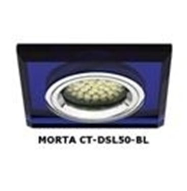 Immagine di FARETTO AD INCASSO QUADRATO FISSO - MORTA CT-DSL50 - blu