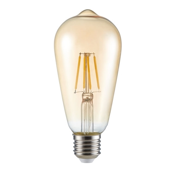 Immagine di ST64 FILLED 4W E27 - WW - LAMPADINA LED A FILAMENTO TYPO A