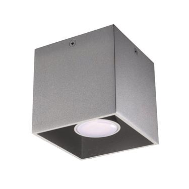 Immagine di ALGO GU10 CL-GR - faretto non a incasso da soffitto quadrato