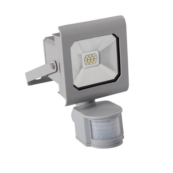 Immagine di ANTRA LED 10W - NW - SE - GR - IP44 - FARO LED DA ESTERNO CON SENSORE DI MOVIMENTO