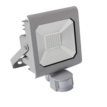 Immagine di ANTRA LED 50W - NW - SE - GR - IP44 - FARO LED DA ESTERNO CON SENSORE DI MOVIMENTO