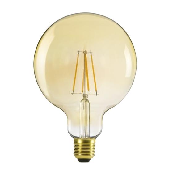 Immagine di XLED G125 7W - WW - LAMPADA A FILAMENTO GLOBO A LED CON VETRO TRASPARENTE