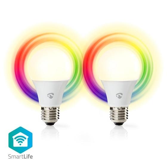 Picture of LAMPADINE LED SMART WI-FI- E27 - Pacco da 2 - RGB-WW-CW - 6W - VETRO BIANCO
