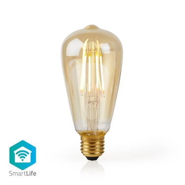 Picture of LAMPADINA LED SMART WI-FI CON FILAMENTO - WW - E27- ST64 | 5 W | 500 lm