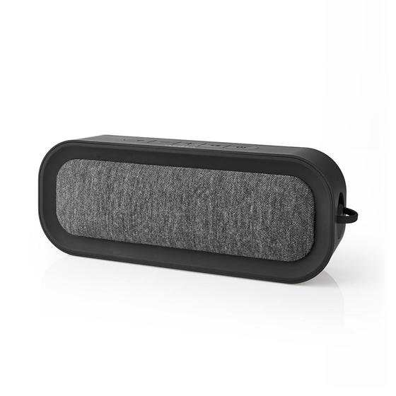 Picture of Altoparlante Bluetooth® in Tessuto | 30 W | Fino a 6 Ore di Riproduzione | Impermeabile | Antracite/Nero