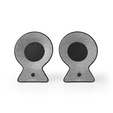 Picture of Altoparlante Bluetooth® in Tessuto | 2 x 15 W | Fino a 4 Ore di Riproduzione | TWS (True Wireless Stereo) | Grigio/Nero