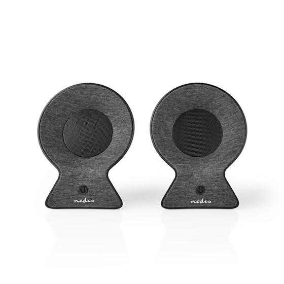 Immagine di Altoparlante Bluetooth® in Tessuto | 2 x 15 W | Fino a 4 Ore di Riproduzione | TWS (True Wireless Stereo) | ANTRACITE/NERO