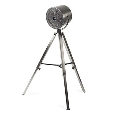 Immagine di Ventilatore con treppiede | Diametro 25 cm | 3 velocità | Metallo spazzolato