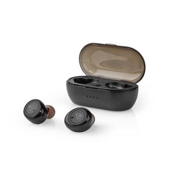 Immagine di Auricolari Bluetooth® Completamente Wireless   4 Ore di Riproduzione   Controllo Vocale   Custodia di Ricarica   Nero