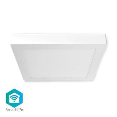 Picture of Lampada da Soffitto Smart Wi-Fi | Forma Quadrata | 30 x 30 cm | Luce Bianca Calda e Fredda | Colore pieno (RGB) | 1200 lm | 18 W | Design Sottile | Alluminio