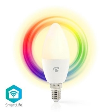 Picture of Lampadina LED smart Wi-Fi | Colore pieno e bianco caldo | E14 - RGB + LUCE CALDA - DIMM