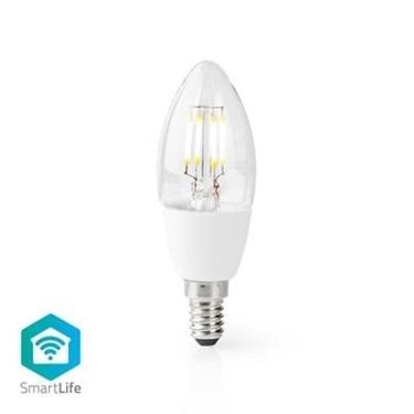 Immagine di Lampadina LED Smart Wi-Fi | E14 | C37 | 5 W | 400 lm | Bianco - VETRO TRASPARENTE