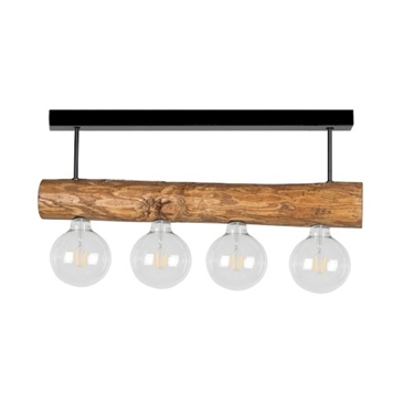 Immagine di TRABO SIMPLE - SOSPENSIONE - corta - 4XE27 -   Black/stained pine