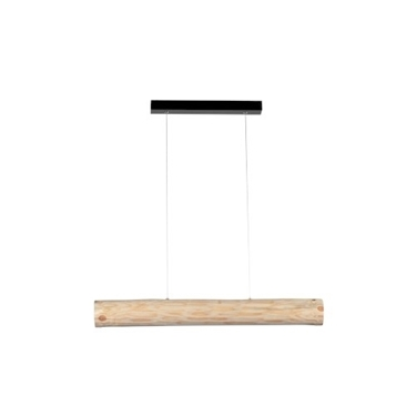 Picture of LUCAS - SOSPENSIONE DA INTERNO A LED - BLACK/NATURAL PINE - 900MM