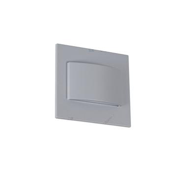 Picture of ERINUS LED LL - SEGNAPASSO QUADRATO GRIGIO - 1.5W - IP20 - DOPPIA LUCE